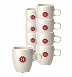 12 stuks Kopje Douwe Egberts espresso 70ml wit