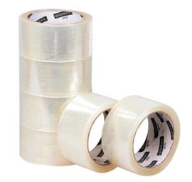 6 rol Verpakkingstape Quantore 50mmx60m PP transparant