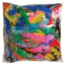 Veertjes regenboog assorti  100 gram