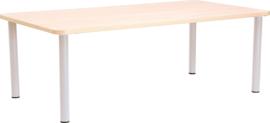 Rechthoekige Quint-tafel 115 x 65 cm met esdoornrand 40-58cm