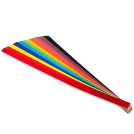 Vlechtrepen  G1 120 grams  12 kleuren 50 x 1 cm - Assorti