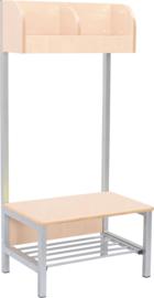 Flexi garderobe met frame 2, hoogte: 35 cm, berk, vlamvertragend