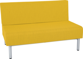 Brandvertragende  sofa, dubbel - mosterd