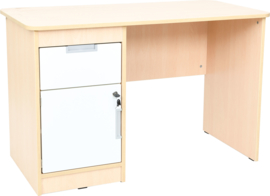 Quadro - bureau links, esdoorn-wit