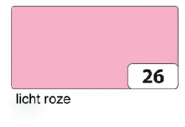 100 vel teken en handenarbeidpapier 50x70 cm  120gr licht roze