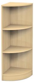 Medium hoek boekenkast  esdoorn