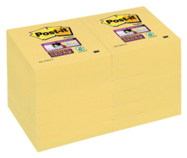 Memoblok 3M Post-it Super Sticky 47.6 x 47.6 mm. geel