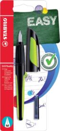 Vulpen STABILO Easybuddy rechtshandig zwart/lime blister