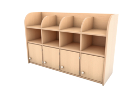 Garderobe plank Flexi 4 - 3 niveaus
