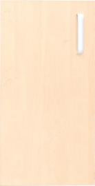 Deur voor smalle kast Flexi en kast M met scheidingswand links - berken