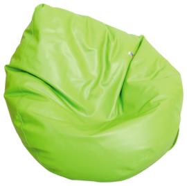 Kleine zitzak poef - peer groen