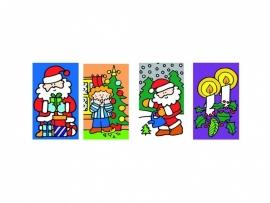 Stickers Kerst - serie 48