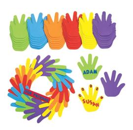 Foam jumbo handen 12cm. 150 stuks