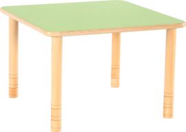 Vierkante Flexi tafel 80x80cm groen in hoogte verstelbaar