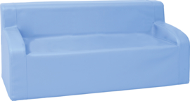Bank met armleuningen - blauw