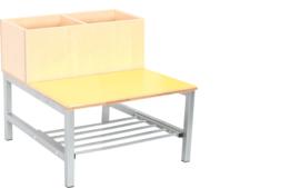 Flexi combibank 2, zithoogte 35 cm., geel