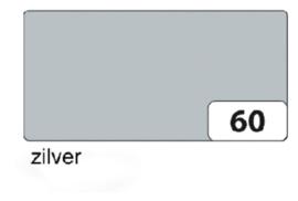Etalage karton  1 zijdig 50x70cm 250gr nr60 zilver