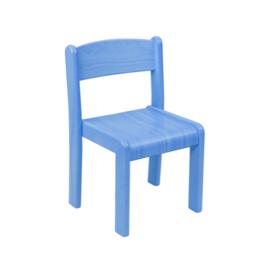 Set 4 stoelen blauw