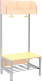 Flexi garderobe 2, zithoogte 35 cm - geel