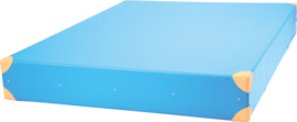 Dik gym matras afm. 200x150x25cm - blauw