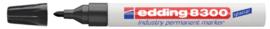 Viltstift edding 8300 industrie rond zwart 1.5-3mm
