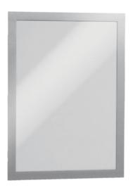 2 stuks Duraframe Durable 487223 A4 zilvergrijs