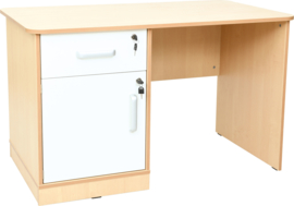 Flexi bureau links,125,5 x 70 x 76 cm  wit