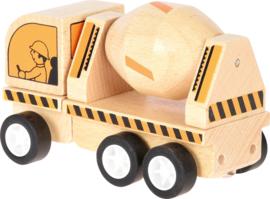 Mini houten betonmixer