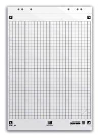 Flipoverpapier Oxford smart 65x98cm. 20 vel ruit 3 pak