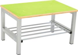 Flexi garderobe bank 2, hoog 26 cm - groen