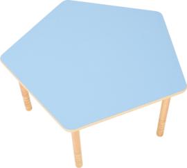 Vijfhoekig Flexi tafelblad  blauw