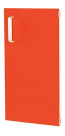 Deur voor smalle kast Flexi en kast M met scheidingswand rechts - rood