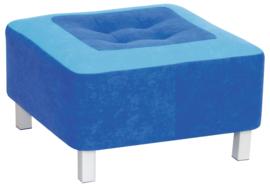 Premium poef blauw