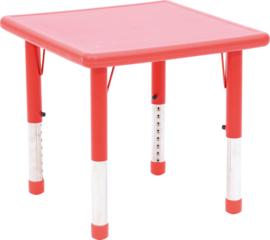 Dumi vierkante tafel - rood