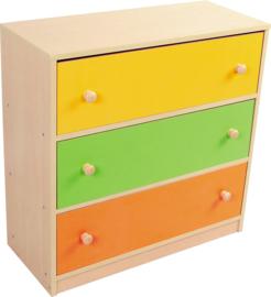 Kleurrijke kast met laden