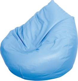 Kleine zitzak poef - peer licht blauw
