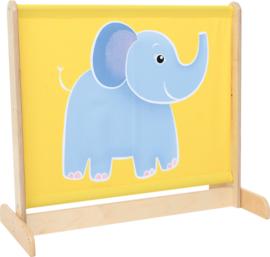 Afscheidingsscherm de olifant