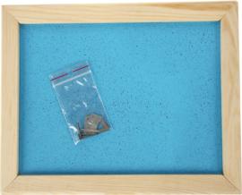 Prikbord 60 x 90 cm - lichtblauw