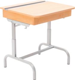 Tafel met houten klep voor boeken, zilver