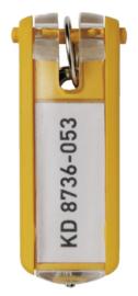 6 stuks Sleutellabel Durable 1957 met ring geel