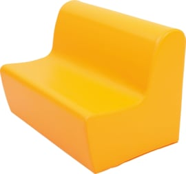 Hoge zitbank 85cm zithoogte 34cm - Oranje