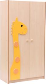 Grote kledingkast met applicatie giraf