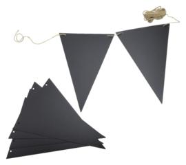 Krijtbord securit vlaggen set 14 stuks zwart + 1 marker
