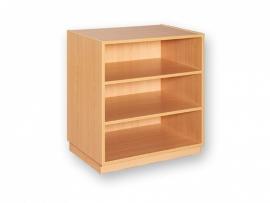 Open kast met 2 planken