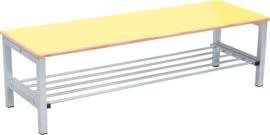 Flexi garderobe bank 4, hoog 35 cm - geel