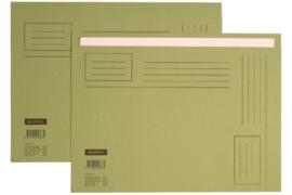 50x Vouwmap Quantore A4 ongelijke zijde 230gr groen