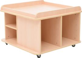Vierkante tafel voor mat - hoog