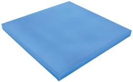 Geluiddempend vierkant - babyblauw, 40 mm