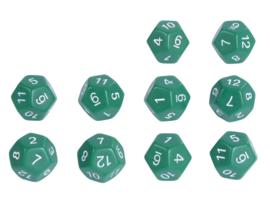 Dobbelstenen getallen 12 zijden