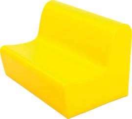 Lage zitbank 65cm zithoogte 20cm - Geel